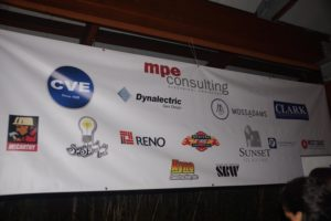 Photo of sponsor banner displayed at the General Contractor & Public Agency Showcase - Photo courtesy of Contractor News & Views